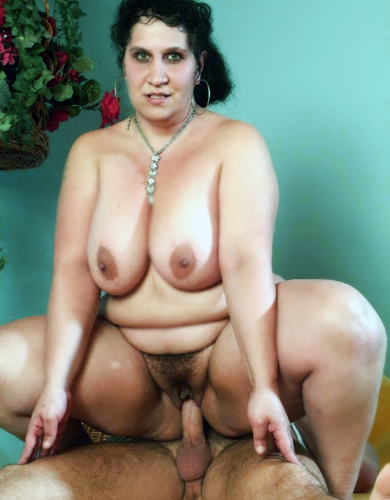 Fat Woman Posing and Riding a Cock